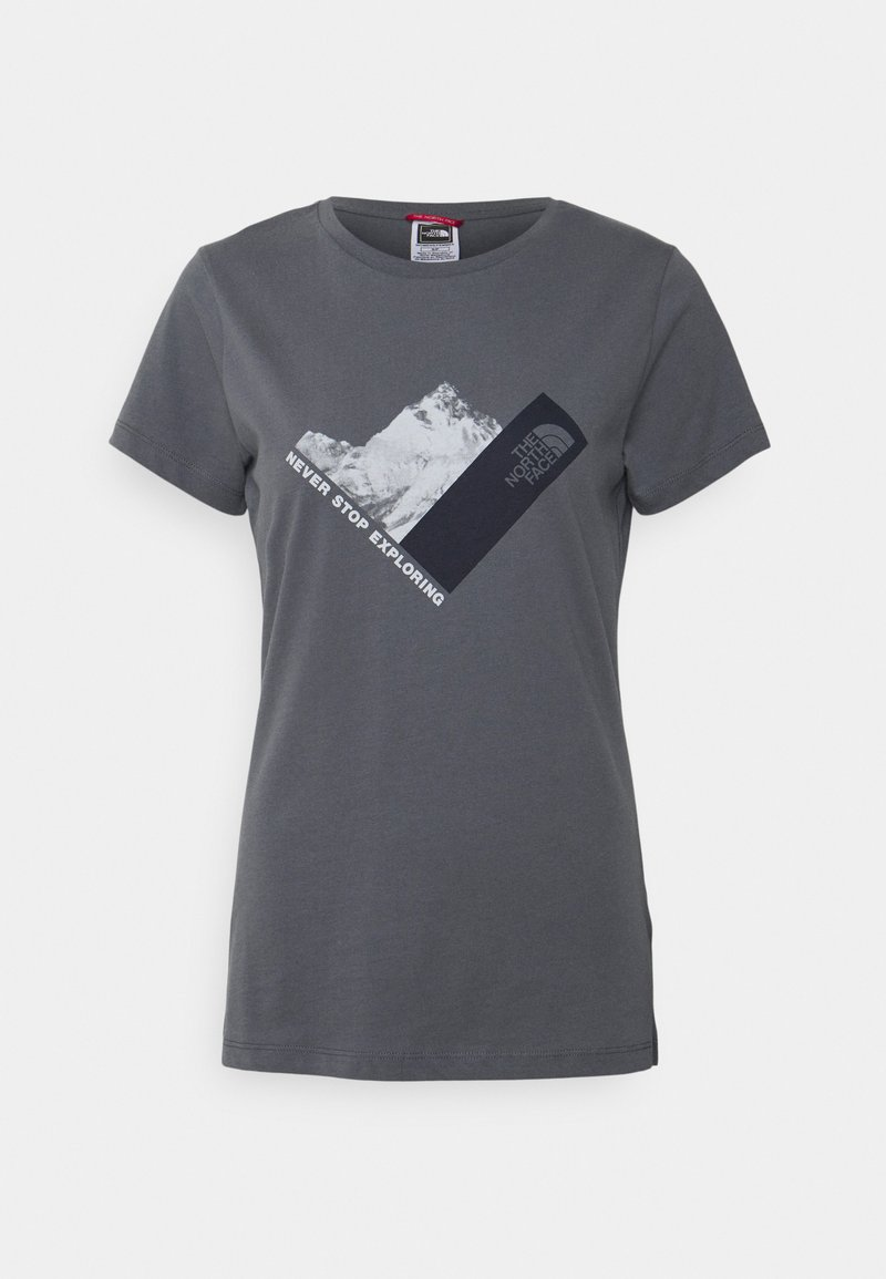 The North Face - NEW CLIMB TEE - T-shirts med print - vanadis grey