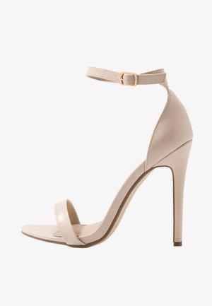 BASIC BARELY THERE - Sandály na vysokém podpatku - nude