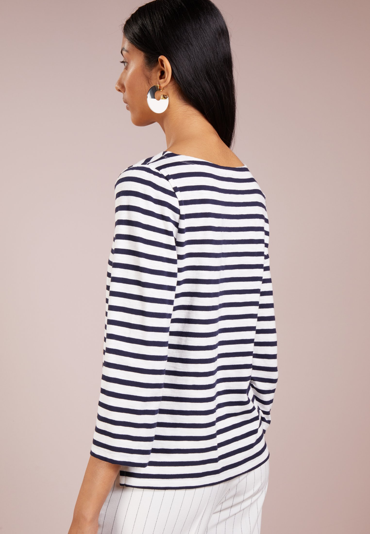 J.CREW T-shirt à manches longues - ivory/navy - Tops & T-shirts Femme 6fvLr