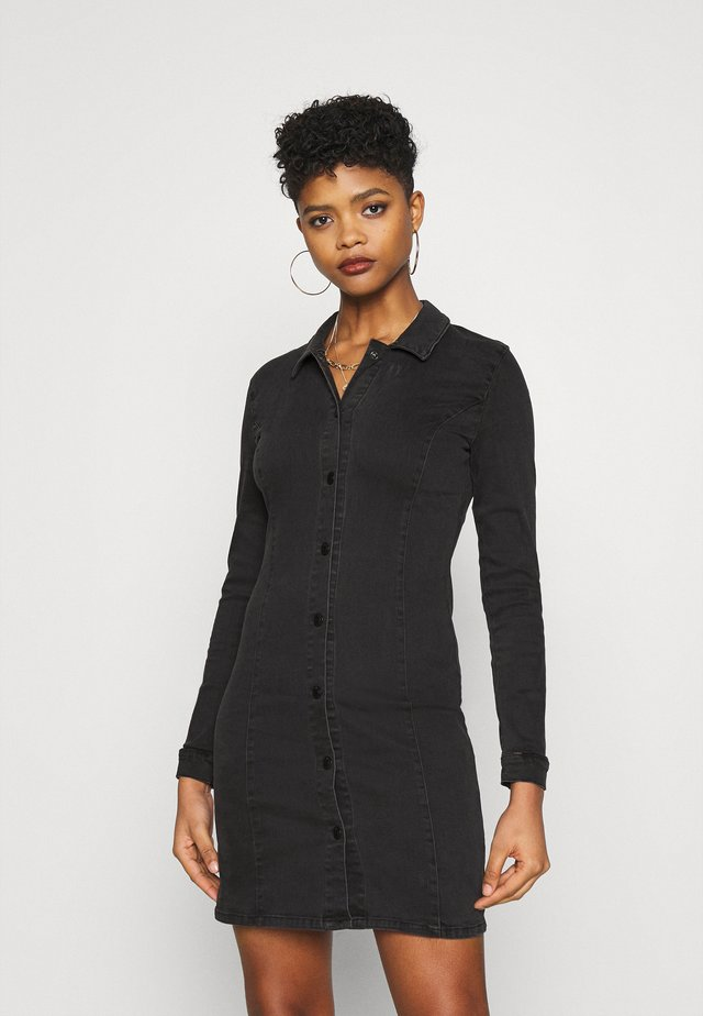 ONLSHARLENE LIFE BUTTON DRESS - Robe en jean - black