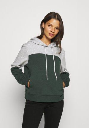 ONLINC JOEY - Sweatshirt - light grey melange/mallard green