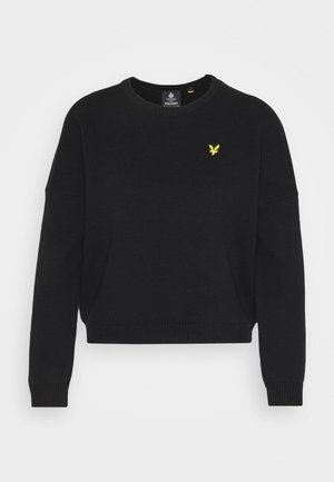 CREW NECK  - Jumper - jet black