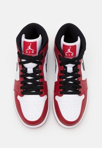 Jordan - AIR 1 MID - Sneakers hoog - white/gym red/black - 3