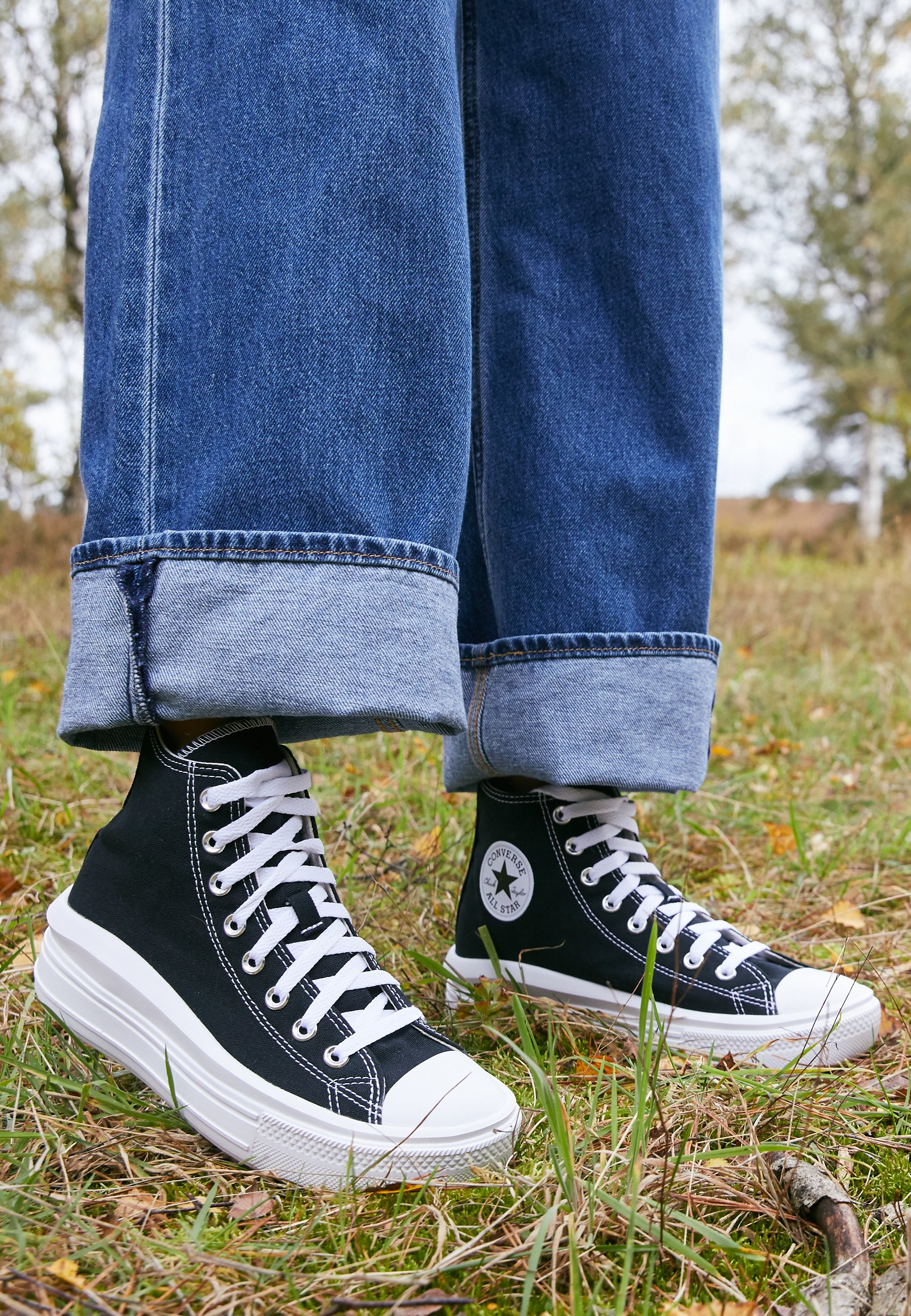 CHUCK TAYLOR ALL STAR MOVE - Baskets montantes - black/natural ivory/white