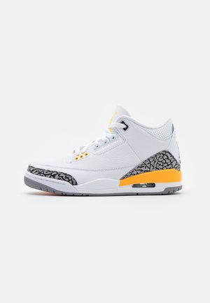 AIR 3 RETRO - Korkeavartiset tennarit - white/black/laser orange/cement grey