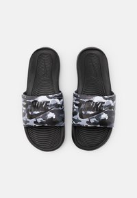 Nike Sportswear - VICTORI ONE SLIDE PRINT - Slip-ins - black/grey fog/particle grey/white - 3