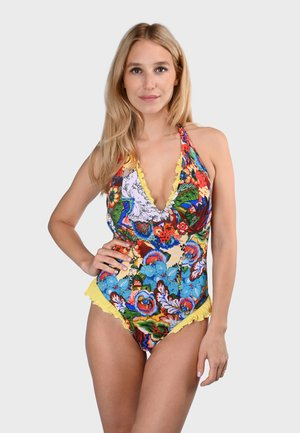 CAYLANE - Swimsuit - yellow, multi-colored