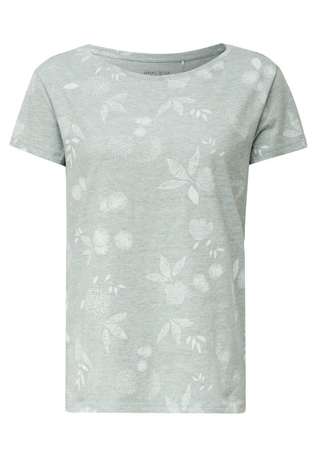 ESPRIT Damen Meliertes Print T-Shirt
