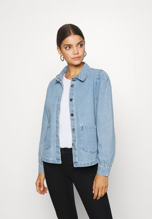 ONLRIZZ JACKET YORK - Džínová bunda - light blue denim