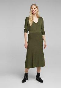 Esprit Collection - A-line skirt - khaki green - 1