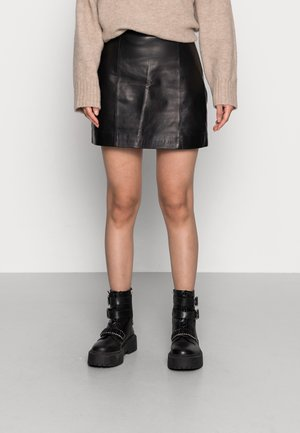 CELIA SKIRT - Mini skirt - black