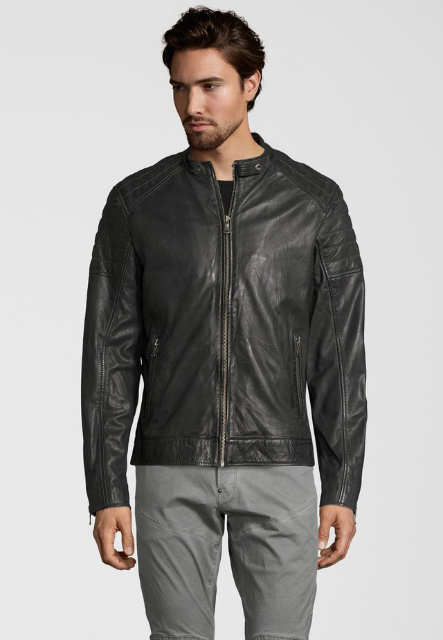 IOWA - Leather jacket - anthracite