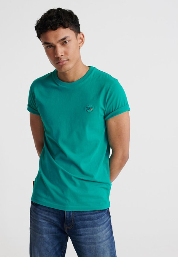 Superdry COLLECTIVE - T-shirt basic - lapis/turkusowy Odzież Męska PYYT
