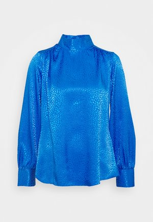 CLOSET HIGH NECK BLOUSE - Blouse - cobalt