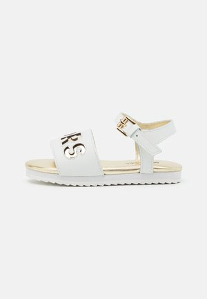 PEEKSNEAK - Sandals - white/soft gold