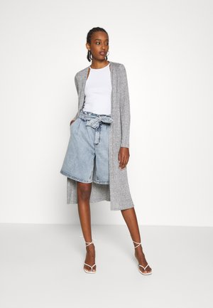 ONLDHAKA LONG SLIT CARDIGAN - Kardigan - medium grey melange