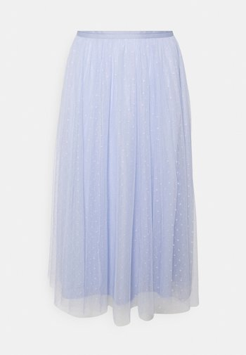 KISSES MIDAXI SKIRT - A-line skirt - wedgewood blue