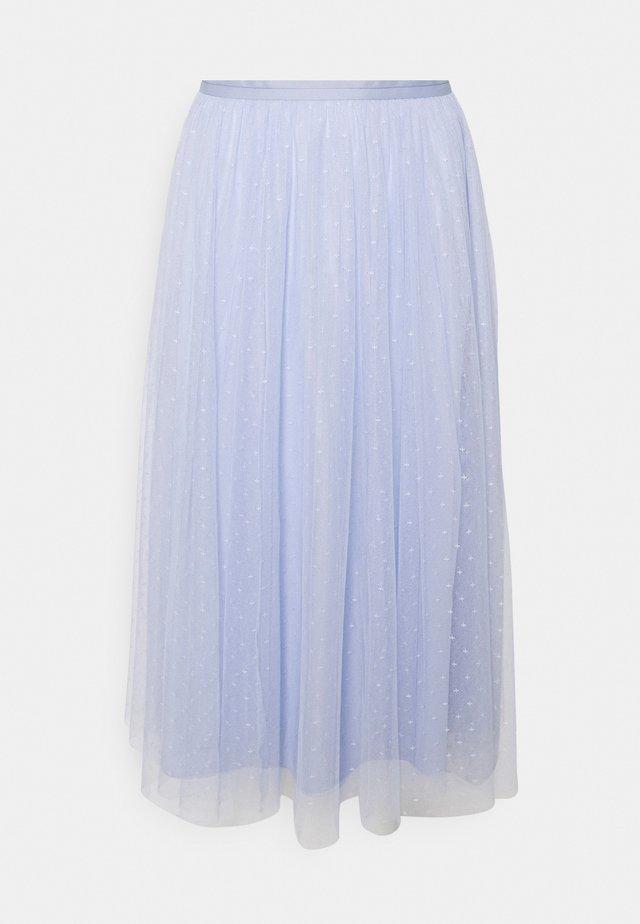 KISSES MIDAXI SKIRT - A-lijn rok - wedgewood blue