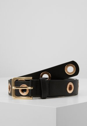 PCLATCHY BELT - Pásek - black/gold-coloured