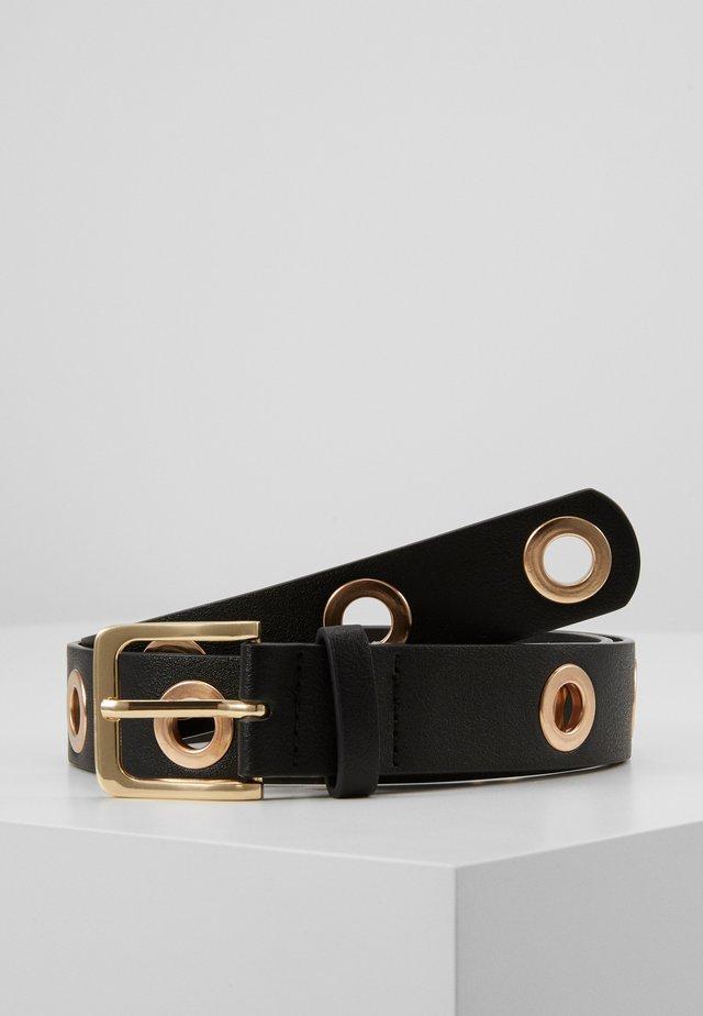 PCLATCHY BELT - Riem - black/gold-coloured