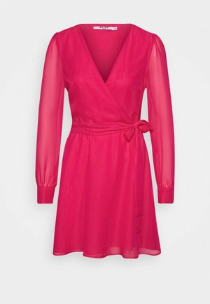 FRONT WRAP DRESS - Day dress - pink
