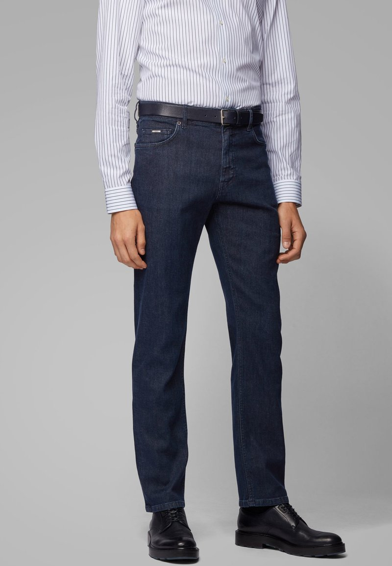 BOSS - ALBANY - Straight leg jeans - dark blue