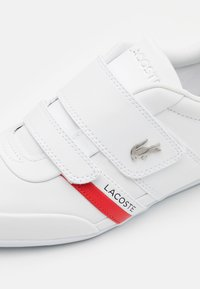 Lacoste - MISANO STRAP - Trainers - white/red - 5