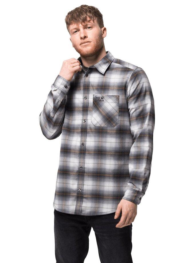 Shirt - pebble grey checks