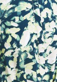 mine to five TOM TAILOR - DRESS PRINTED MIDI - Shirt dress - navy/mint - 2
