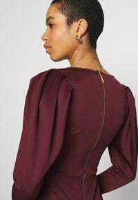 Closet - LONG SLEEVE SKATER DRESS - Jersey dress - burgundy - 5