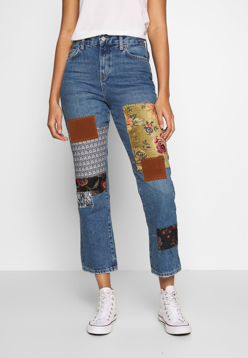 Free People - POPPY PATCH - Bootcut jeans - blue