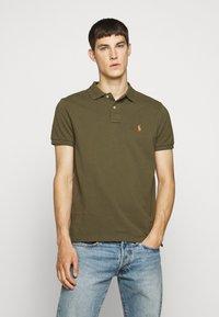 Polo Ralph Lauren - CUSTOM SLIM FIT MESH POLO - Polo shirt - defender green - 0