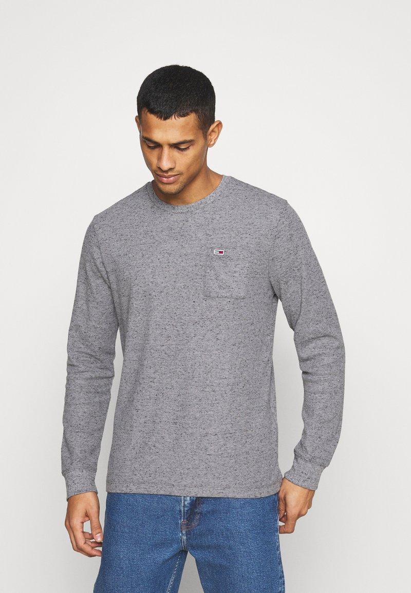 Tommy Jeans - POCKET TEE - Bluzka z długim rękawem - dark grey heather