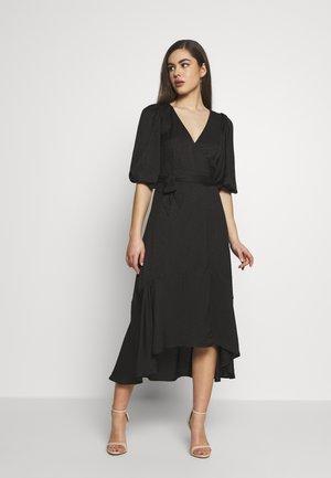 WRAP DRESS - Robe d'été - black