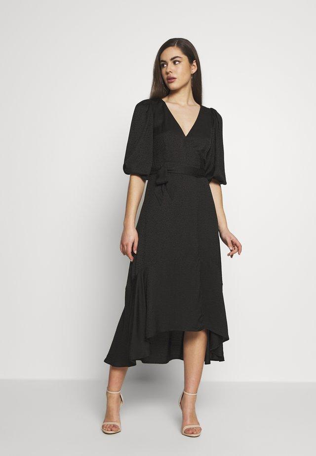 WRAP DRESS - Vapaa-ajan mekko - black