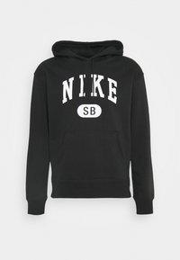 Nike SB - GRAPHIC HOODIE UNISEX - Sweatshirt - black/white - 0
