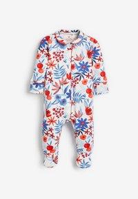 Next - 3 PACK FLORAL  - Sleep suit - red - 1