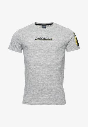 TECH CODE - T-shirt print - carbon grey space dye