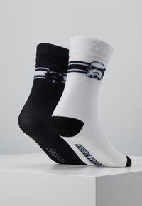 Mister Tee - STORMTROOPER HEAD SOCKS 2 PACK - Chaussettes - black/white - 3
