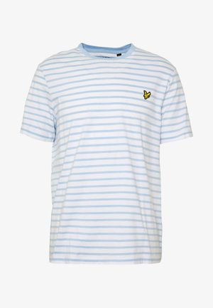 BRETON STRIPE  - Print T-shirt - pool blue/ white