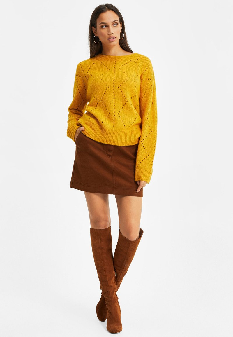 WE Fashion GROF - Strickpullover - mustard yellow/senf NeQGCg