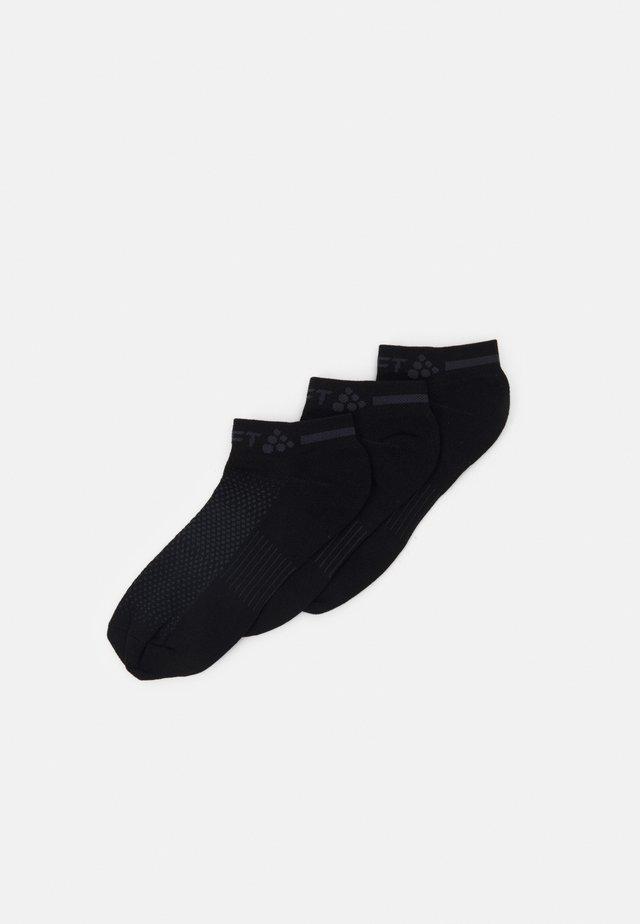 CORE DRY SHAFTLESS 3 PACK UNISEX - Enkelsokken - black