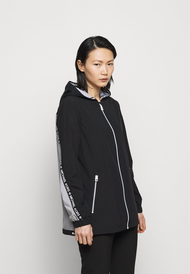 COLOR BLOCK WITH ATTACHED HOOD - Manteau classique - black nickel