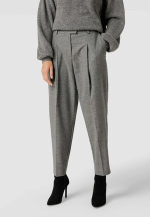MIT STRETCH-ANTEIL - Trousers - mittelgrau