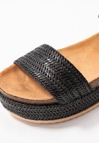 mtng - PERLA - Platform sandals - black - 2