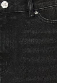 ONLY - ONLROSE LIFE ASHAPE SKIRT - Mini skirt - black denim - 5