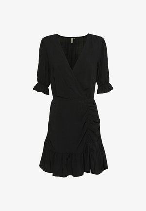 FLIRTY RUCHED DRESS - Vestido informal - black