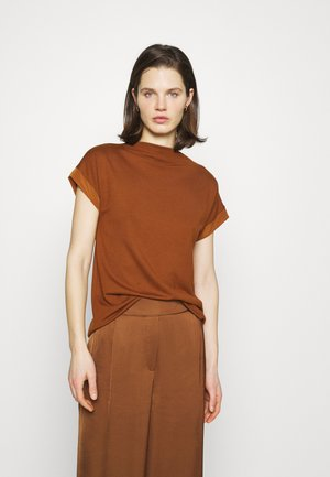 HIGH NECK - Basic T-shirt - toffee
