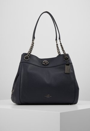 POLISHED TURNLOCK EDIE  - Handbag - dark navy