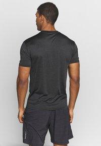 Endurance - MELANGE TEE - Camiseta básica - black - 2